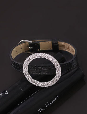 Adjustable zircon warp bracelet