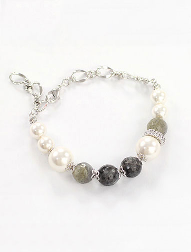 Faux-diamond bracelet
