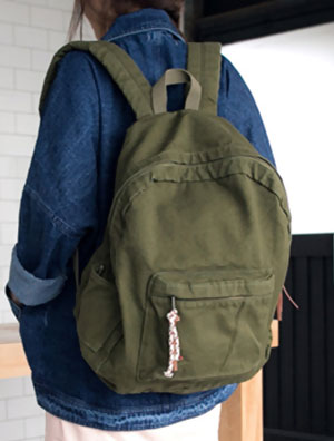 Solid color oversize canvas backpack