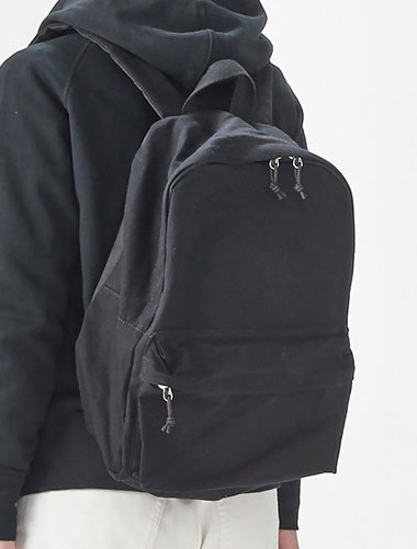 Solid color canvas backpack