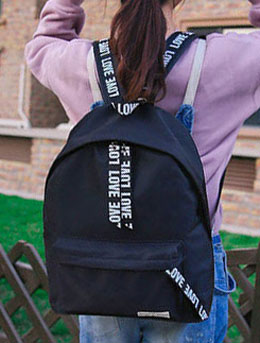 Letter printed backpack