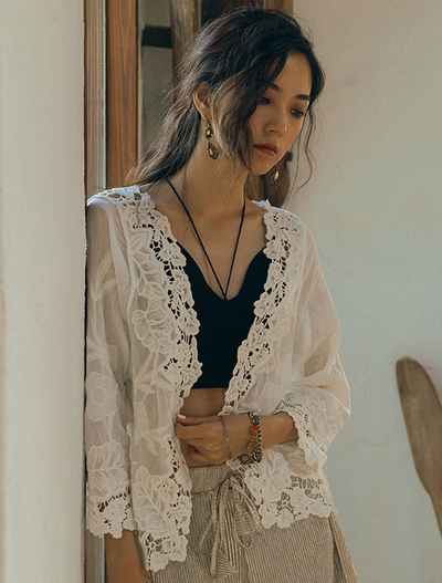 Lace cotton summer outer