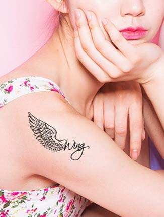 Rose butterfly temporary tattoos body art stickers - 20 pieces