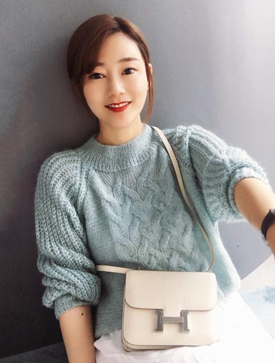 Cable-knit mohair sweater