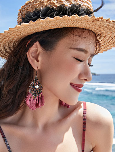 Tassel alloy earrings
