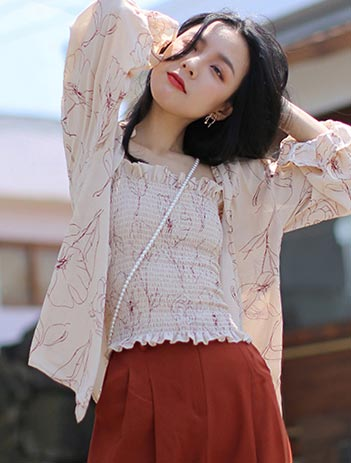 Printed summer outer