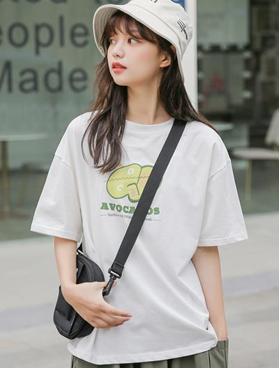 Avocados printed cotton blend Tee